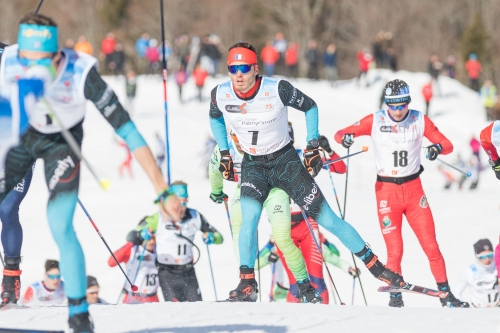 THOMAS CHAMBELLANT AU TOP DU MARATHON SKI TOUR